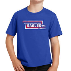 Eagles Youth Stacked Stripe Tee Thumbnail